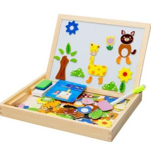 Дървена образователна дъска Животни