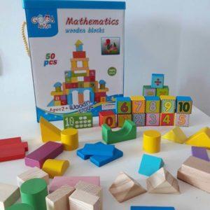 Дървен конструктор Математика 50 части