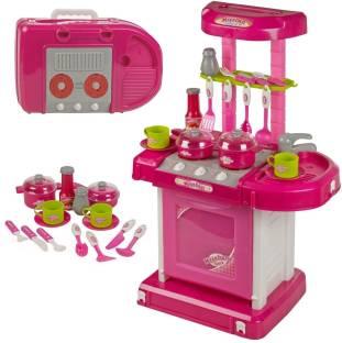 розова детска кухня