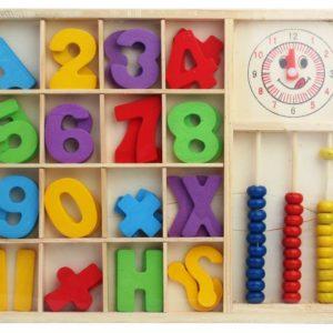 дървена кутия математика