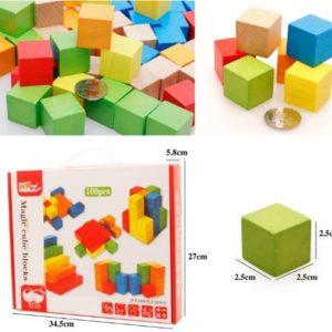 дървени кубчета 100 бр