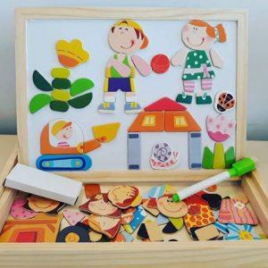 Дървена образователна дъска Забавни игри