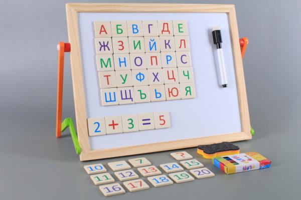 дървена дъска азбука