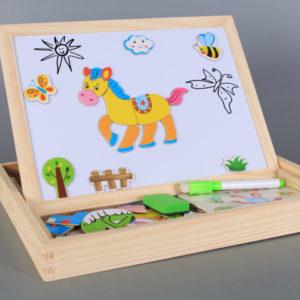 Дървена образователна дъска Конче