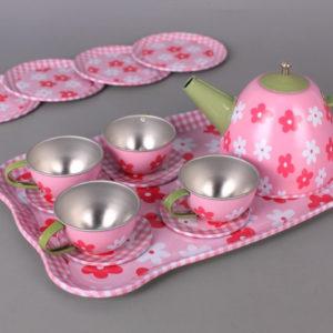 Метален чаен сервиз