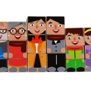 Дървени кубчета Човечета