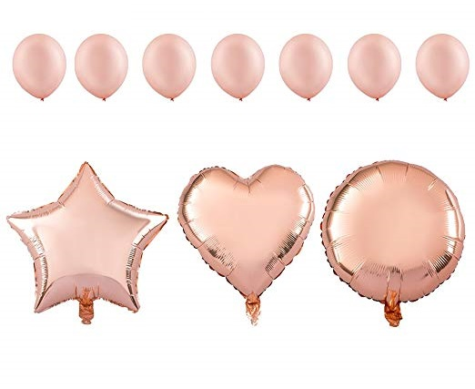 3 бр фолиеви балони и 7 бр латексови балони