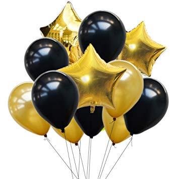 3 бр фолиеви звезди и 10 бр латексови балони