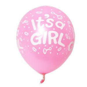 10 бр розови балони It's a Girl