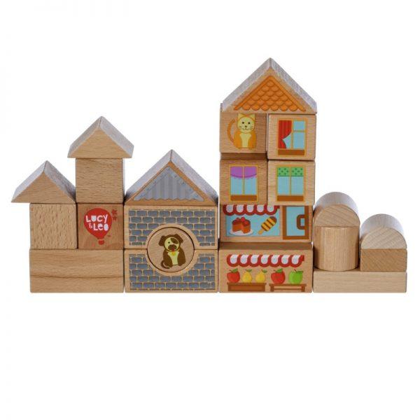 25 части дървени блокчета LUCY&LEO