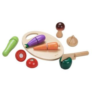 Детски дървен комплект за рязане - зеленчуци Classic World