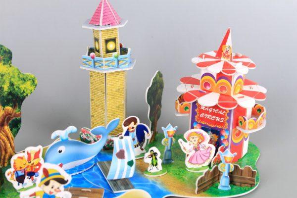 3D книжка пъзел Пинокио