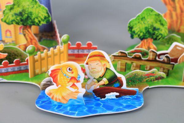 3D книжка пъзел Рибарят и златната рибка