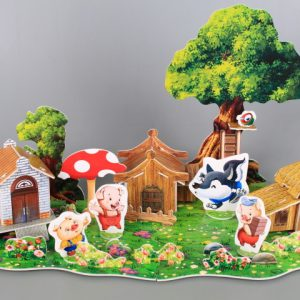 3D книжка пъзел Трите прасенца