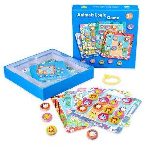 логическа игра с животни