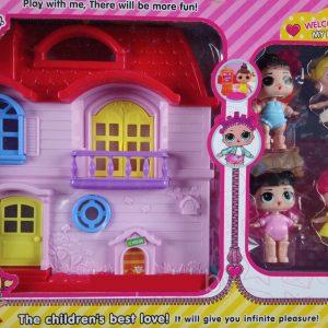 LOL Surprise къща с 4 кукли